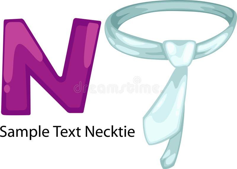 slips för alfabetillustrationbokstav n vektor illustrationer