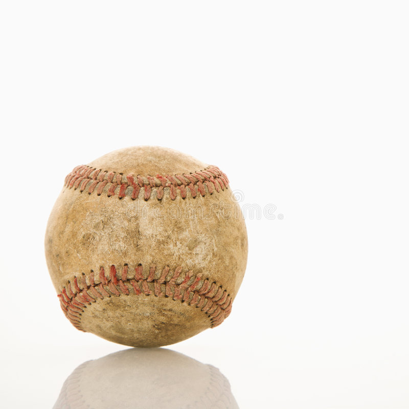 slitage baseball royaltyfri fotografi