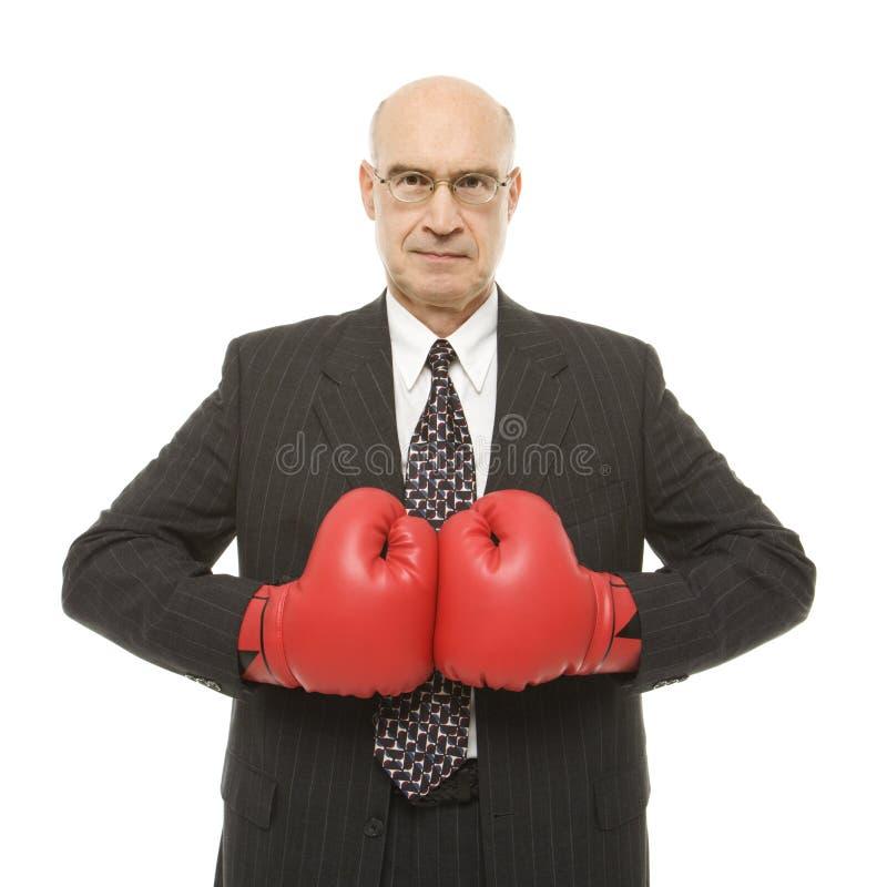slitage för boxninghandskeman arkivfoto