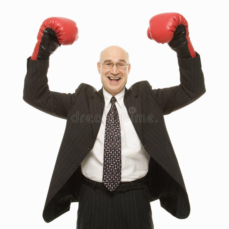 slitage för boxninghandskeman fotografering för bildbyråer