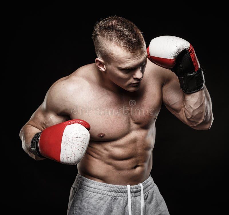 slitage för boxninghandskeman arkivfoton