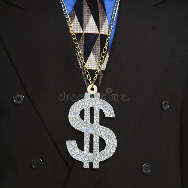 slitage för manpengartecken royaltyfri bild