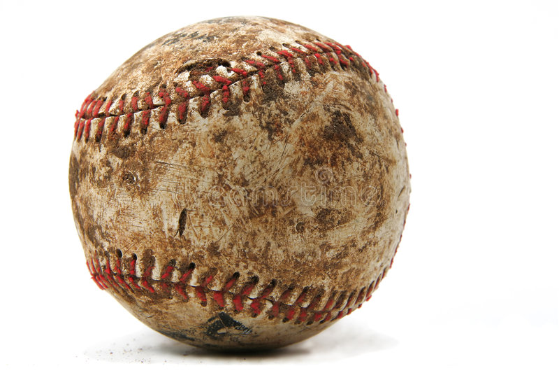 slitage gammalt för baseball arkivfoton