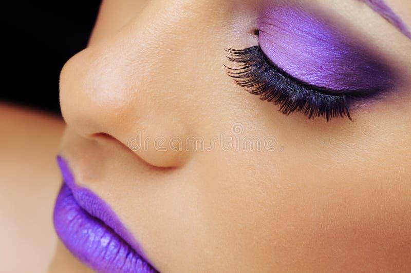 slitage kvinna för härlig makeup royaltyfri fotografi