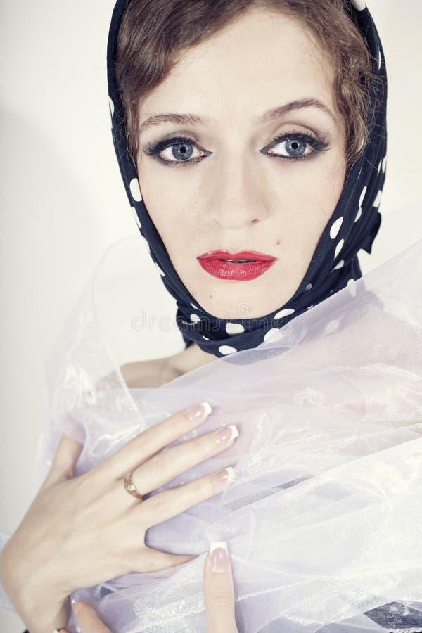 slitage kvinna för härlig pricksjalettpolka fotografering för bildbyråer