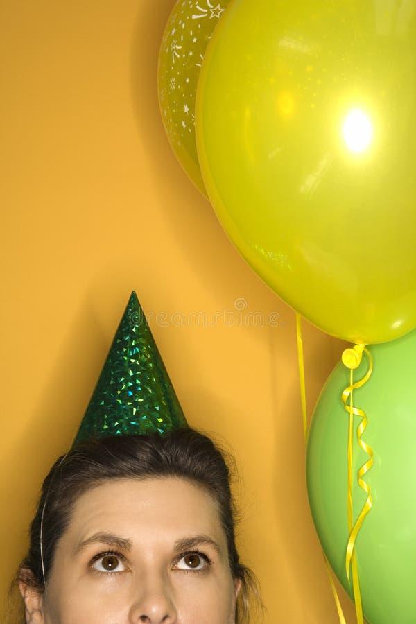 slitage kvinna för hattdeltagare arkivfoto