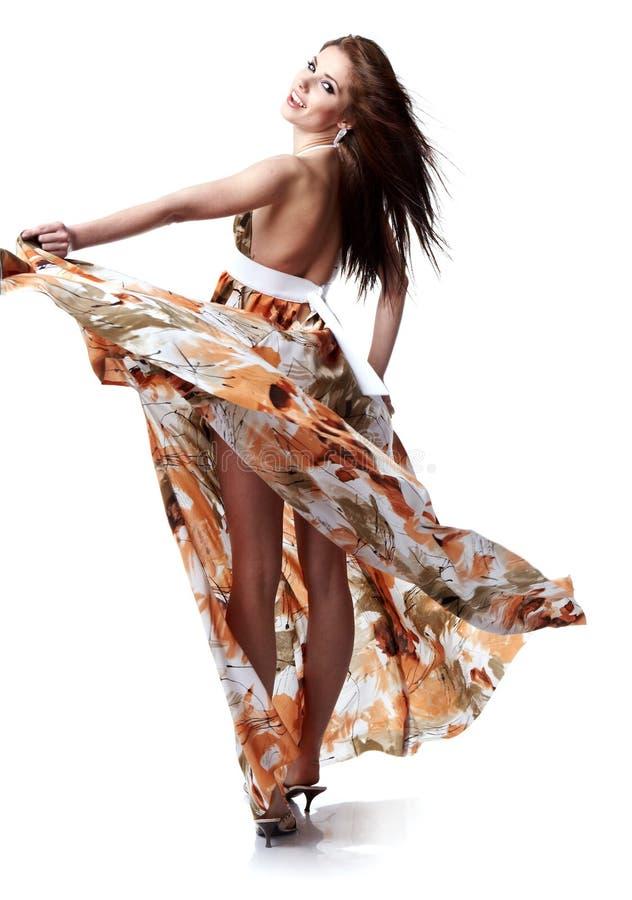 slitage kvinna för klänningsommar arkivfoton