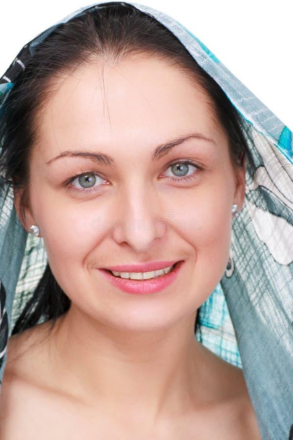 slitage kvinna för sjalett arkivfoton