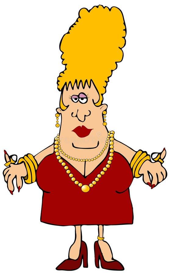 slitage kvinna för smycken vektor illustrationer
