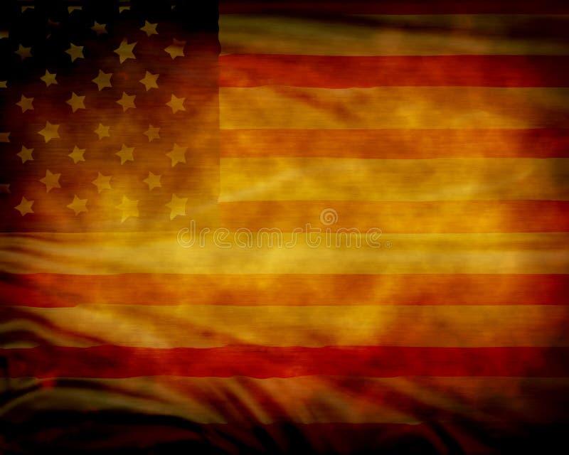Sliten amerikanska flaggan vektor illustrationer
