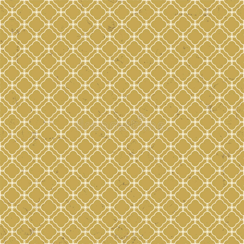 Sliten sömlös tappning lattice ut för geometrimodellen för diamanten arg bakgrund stock illustrationer