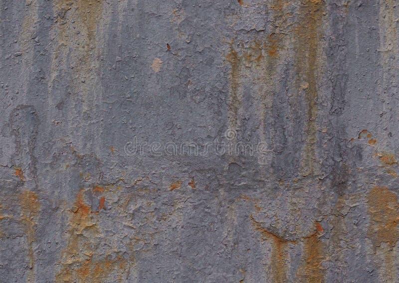 Sliten skadad målad för texturmodell för metall sömlös bakgrund Sömlös grå yttersida för grungetexturstruktur med sprickor och sc royaltyfria foton