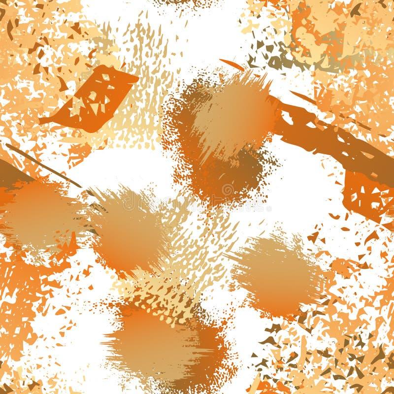 Sliten textur plaskar yttersida Måla ändlöst royaltyfri illustrationer