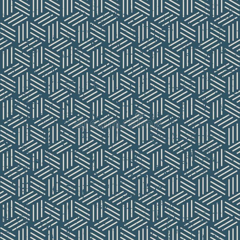 Sliten ut 3D linje för sömlös tappning askmodellbakgrund stock illustrationer