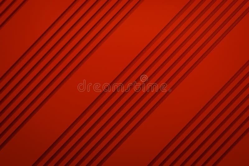 Sliter den sneda linjen materiell bakgrund 3d för den röda sidingen för orienteringspapper royaltyfri illustrationer