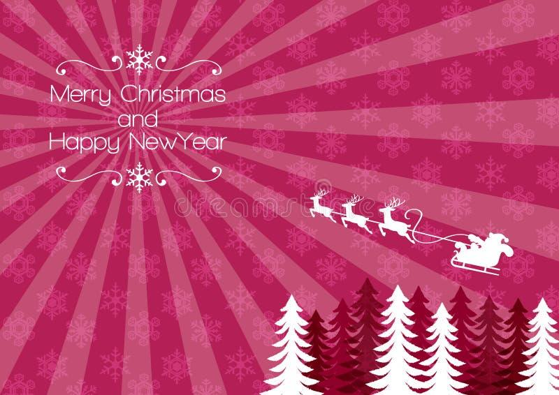 Slitta della renna di festa Backbround - di Santa di Chirstmas royalty illustrazione gratis