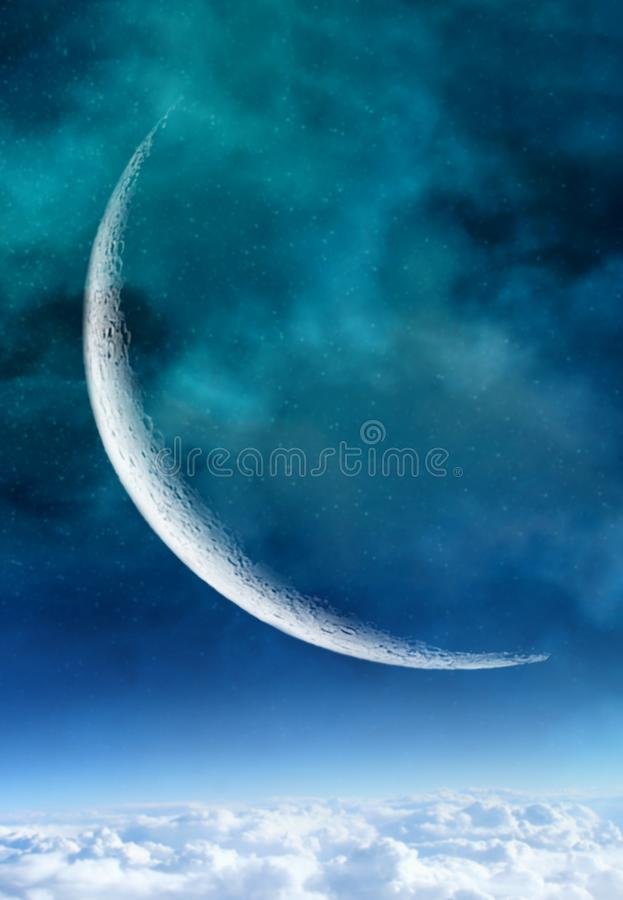 Free Sliver Of A Crescent Moon Royalty Free Stock Image - 111813006