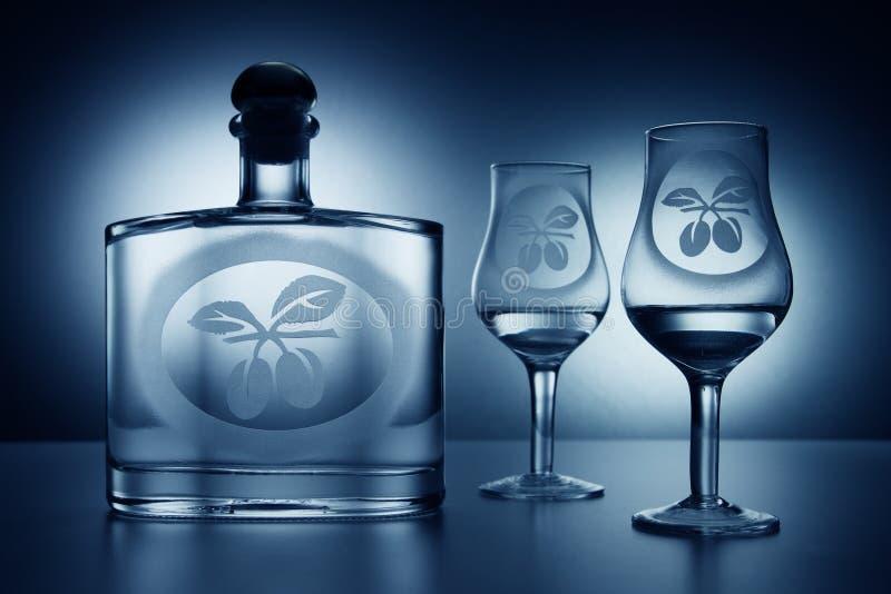 Slivovitz. Traditional plum brandy from Slovakia royalty free stock photos