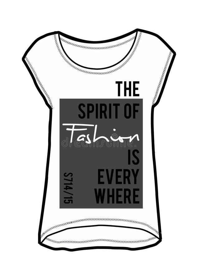 Slogan, copie de mode illustration stock