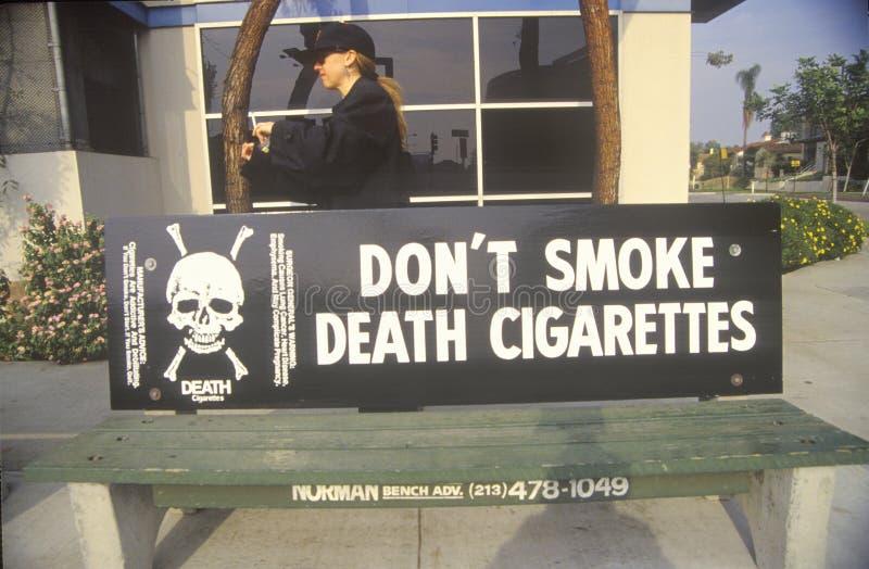 slogan d'Anti-cigarette photographie stock