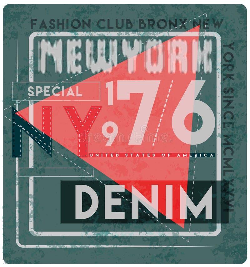 Slogan de New York City, gráficos da camisa de t, projeto da cópia do T Vetor ilustração do vetor