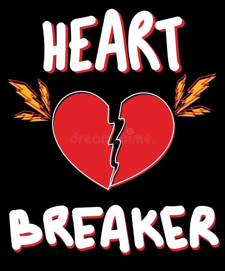 Slogan de typographie avec le vecteur de coeur pour l'impression et la broderie de T-shirt illustration de vecteur