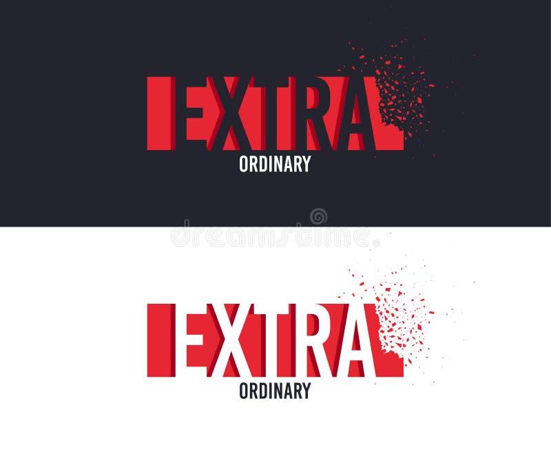 Slogan extra para o projeto da impressão do t-shirt Projeto gráfico do T Vetor ilustração do vetor