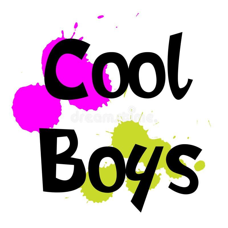 Slogan fresco dei ragazzi per i bambini royalty illustrazione gratis