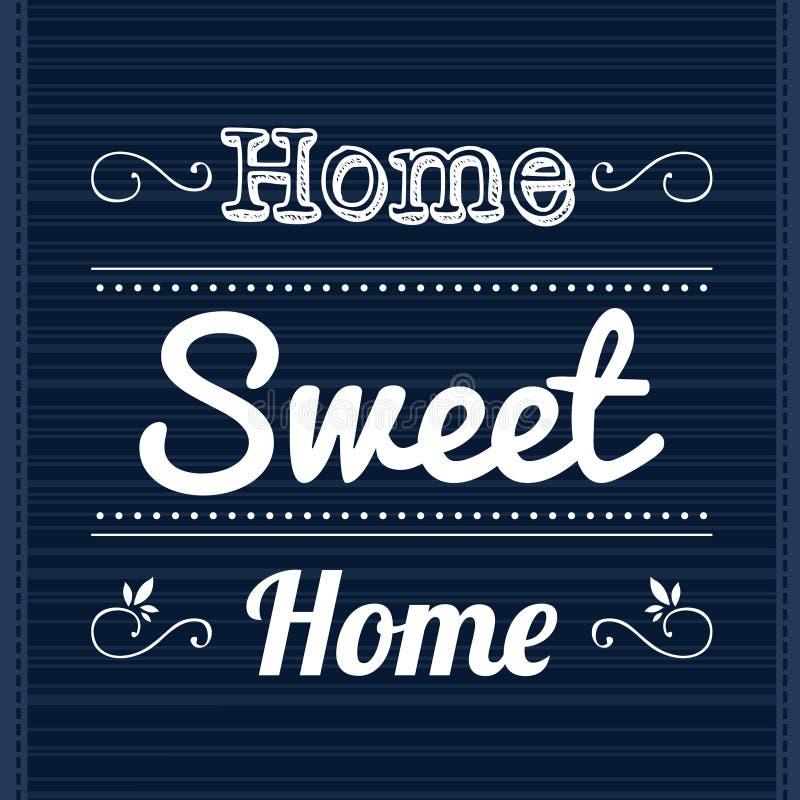 Slogan Home Sweet Home royalty free illustration