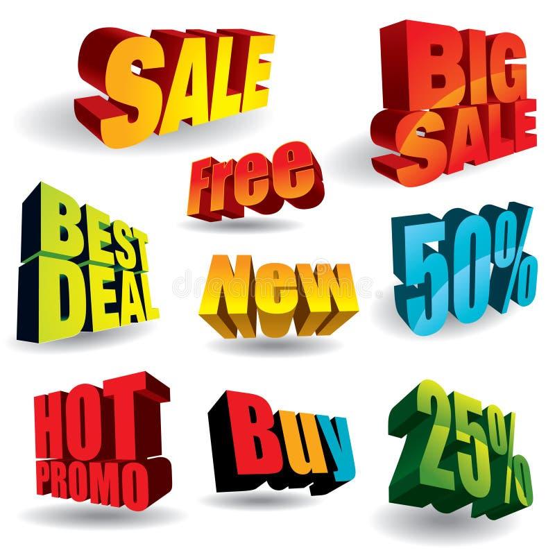 Slogans de vente illustration de vecteur