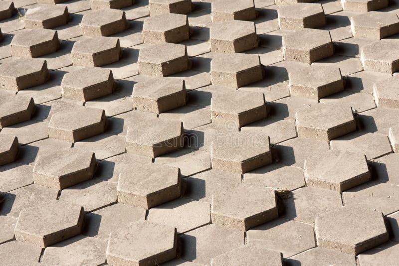 Download Slope Of Symmetrical Hexagonal Stones Stock Image - Image: 21254589