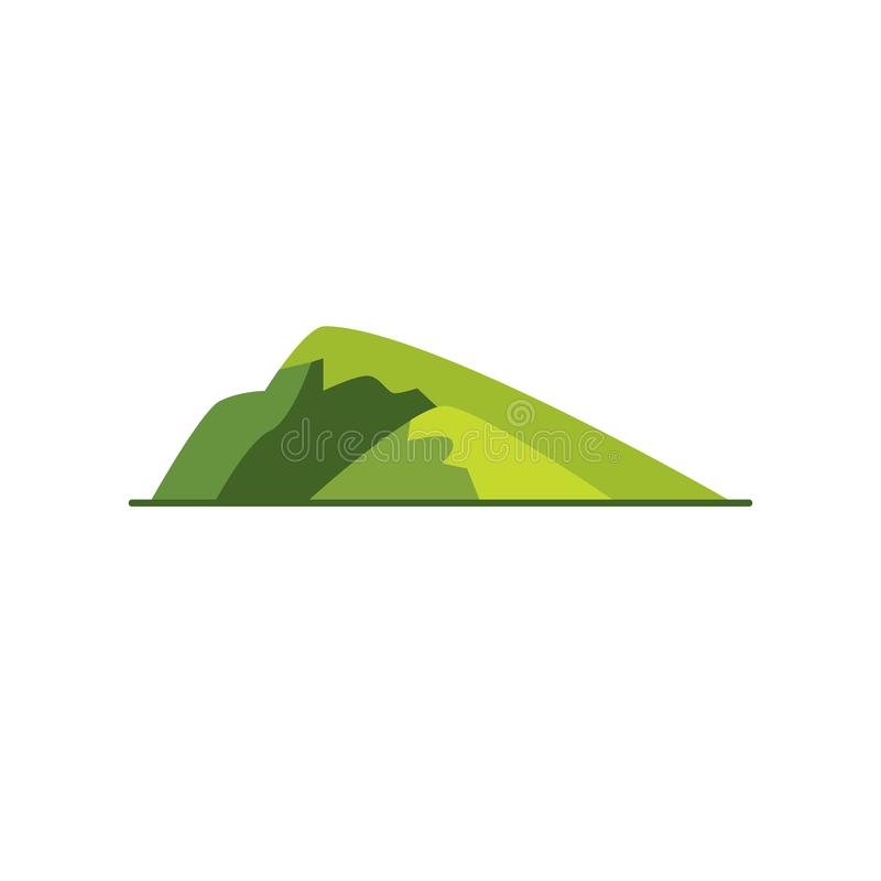 Sloping hill icon in flat style vector illustration