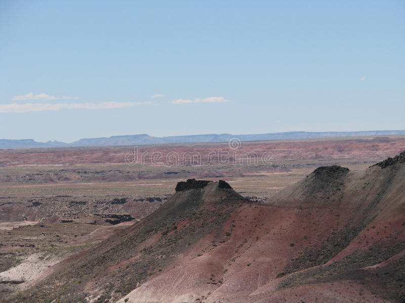 Sloping Hill of Painted Desert stock photos
