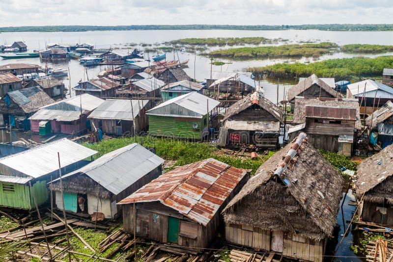 Sloppenwijk in Iquitos royalty-vrije stock foto's