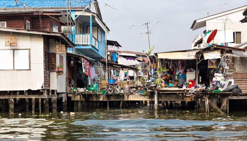 Sloppenwijk in Thailand royalty-vrije stock fotografie