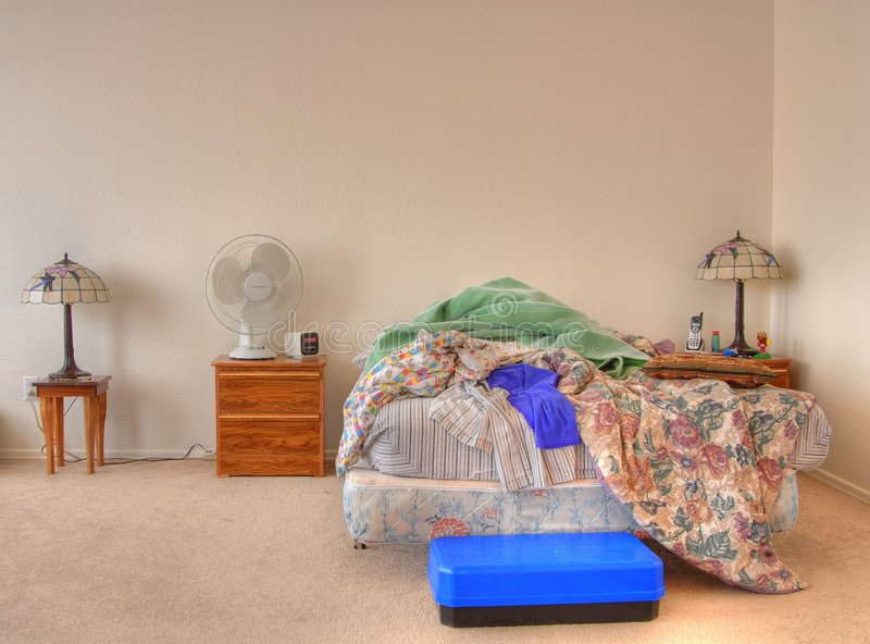 Slordig Bed stock fotografie