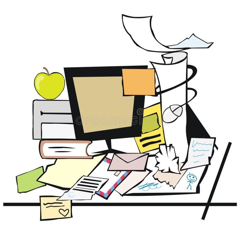 Schreibtisch clipart  Slordig bureau vector illustratie. Afbeelding bestaande uit studie ...