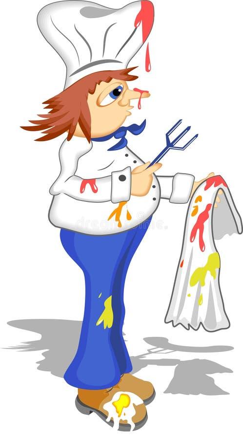 Download Slordige Chef-kok vector illustratie. Illustratie bestaande uit beroep - 49935
