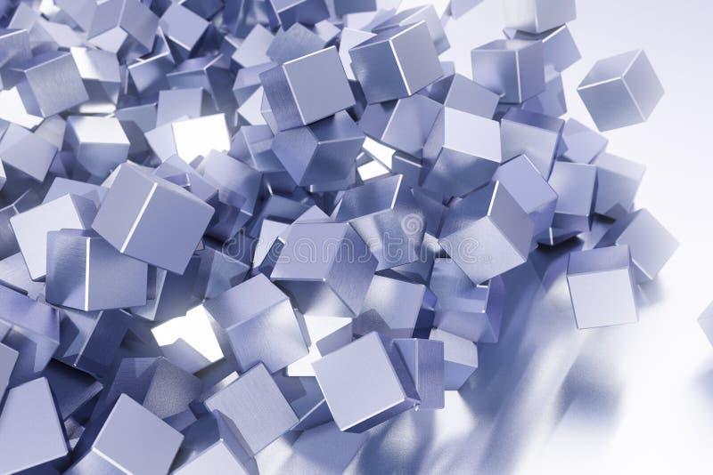 Slordige kubusachtergrond vector illustratie