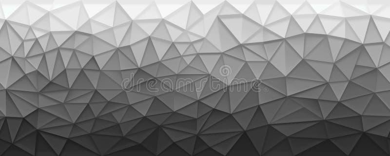 Slordige veelhoekige zwart-wit prisma naadloze achtergrond vector illustratie