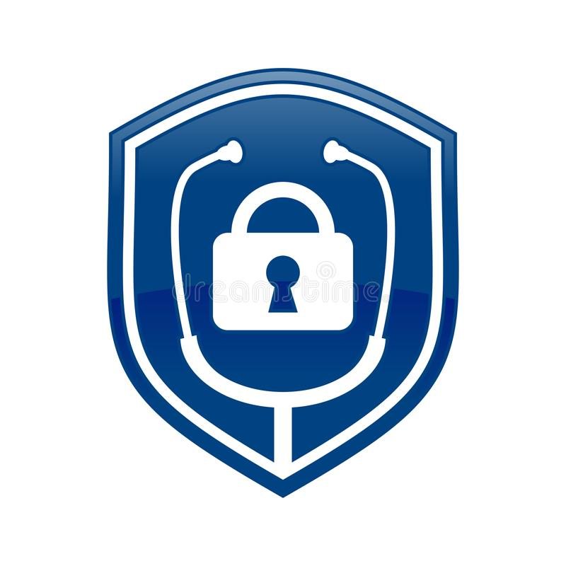 Slot Arts Shield Logo Blue Symbol Design royalty-vrije illustratie