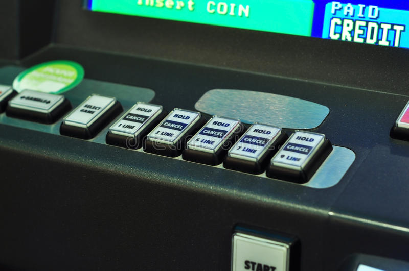 Slot buttons stock photo