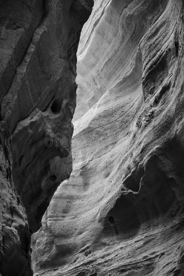 Slot Canyon Black and White royalty free stock images