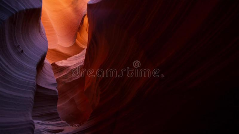 Slot canyon in Grand Staircase Escalante National park, Utah, USA. Unusual colorful sandstone formations in deserts of Utah are stock photo