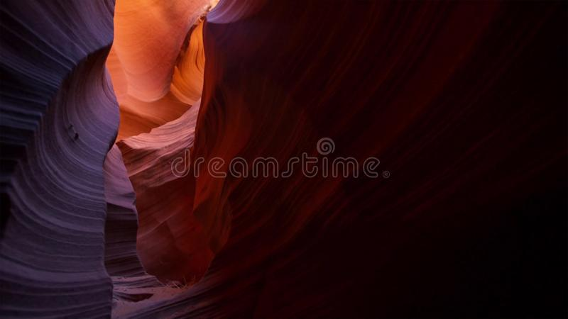 Slot canyon in Grand Staircase Escalante National park, Utah, USA. Unusual colorful sandstone formations in deserts of Utah are stock images