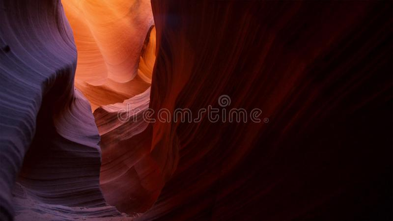 Slot canyon in Grand Staircase Escalante National park, Utah, USA. Unusual colorful sandstone formations in deserts of Utah are royalty free stock image