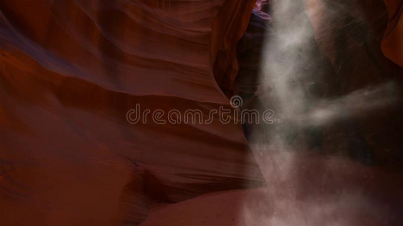Slot canyon in Grand Staircase Escalante National park, Utah, USA. Unusual colorful sandstone formations in deserts of Utah are stock image