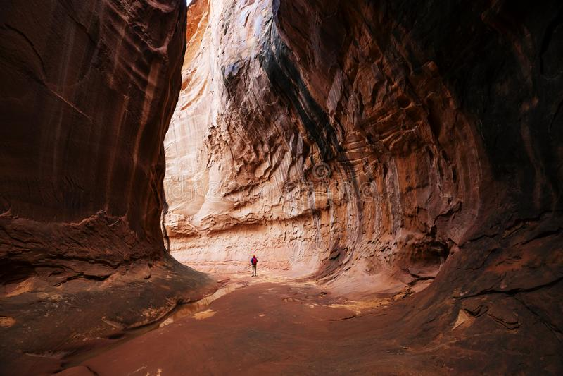 Slot canyon royalty free stock photo