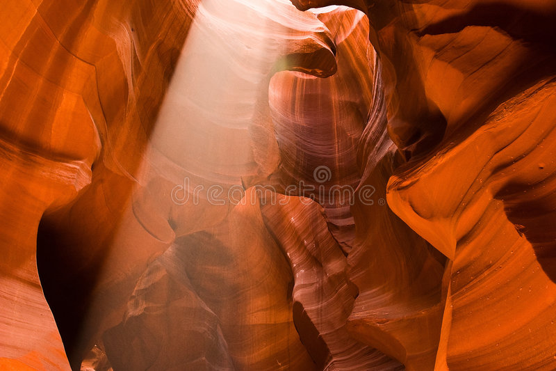 Slot Canyon Sunbeam royalty free stock image