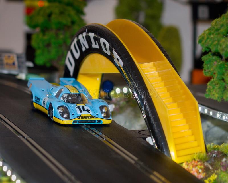 Slot cars editorial stock photo  Image of racing, race
